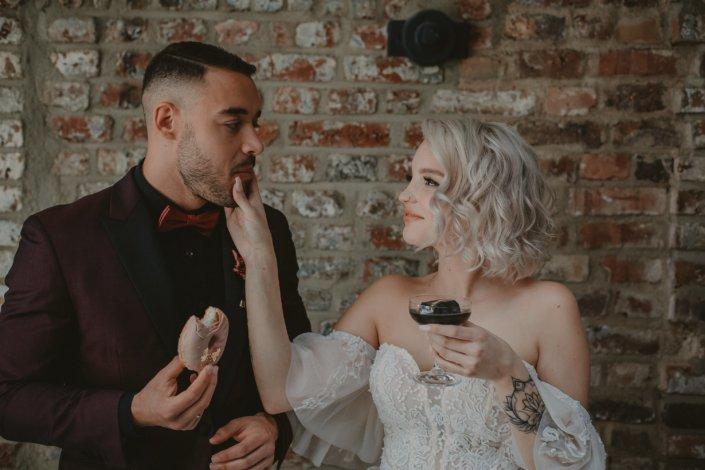 Drinks und Sweets Braut und Bräutigam